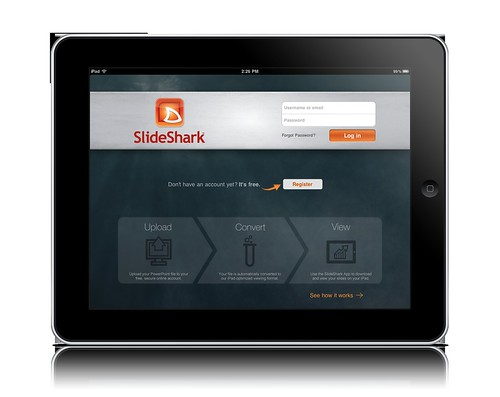 SlideShark iPad Login