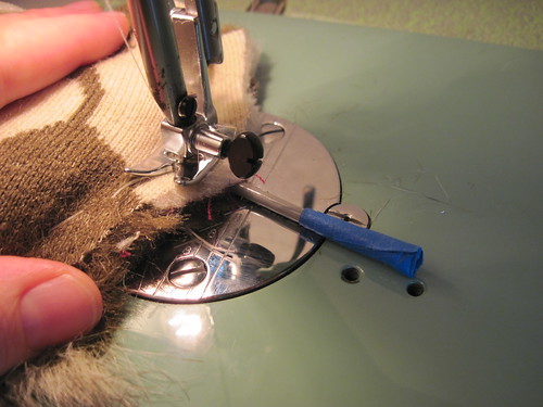 ... Then Machine-Sew The Ears - Carefully!