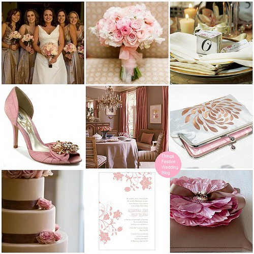 Pink and taupe Wedding