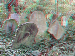 Nunhead cemetery London, 3D photo (anaglyph) (Stereomania) Tags: uk england london cemetery stereoscopic stereophoto 3d victorian anaglyph stereo stereoview magnificent nunhead kerkhof 2011 stereophotograpy