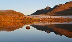 Tranquil morning (leifolsen) Tags: morning autumn sea sky mist fall water norway norge himmel calm fjord 1001nights morgen tranquil dis vann hst rolig troms sj stille northernnorway colorphotoaward senjaisland 1001nightsmagiccity ringexcellence dblringexcellence tpl
