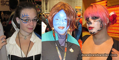 2011 NY Comic Con Female Costumes with Face Makeup