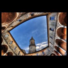Basilica di San Pietro, Perugia (R.o.b.e.r.t.o.) Tags: italy church glamour italia pg chiesa campanile monastery roberto perugia umbria chiostro monastero cattedrale abbazia sigma15mmfisheye nikond700 hdr9raw