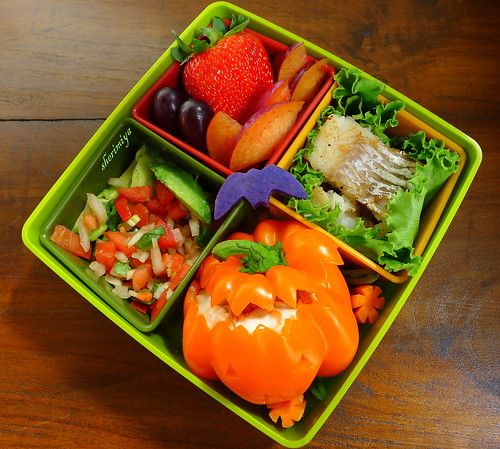 Orange Pepper Jack O'Lantern Bento by sherimiya ♥
