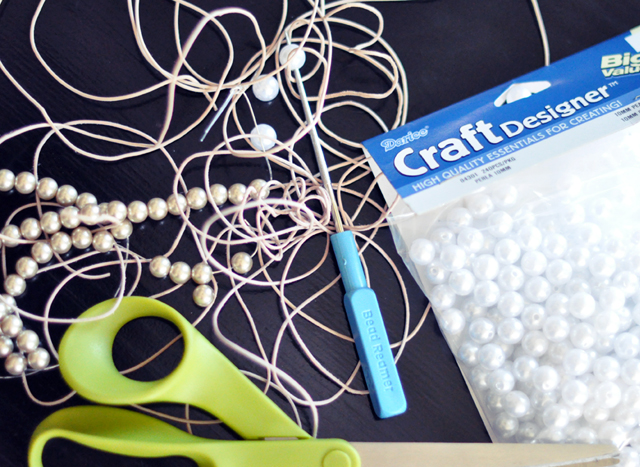 Leather and Pearl Necklace DIY - Materials
