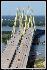 Fred Hartman Bridge, Houston (SkylineScenes (Bill Cobb)) Tags: bridge texas baytown houston aerial shipchannel fredhartman cablestayed
