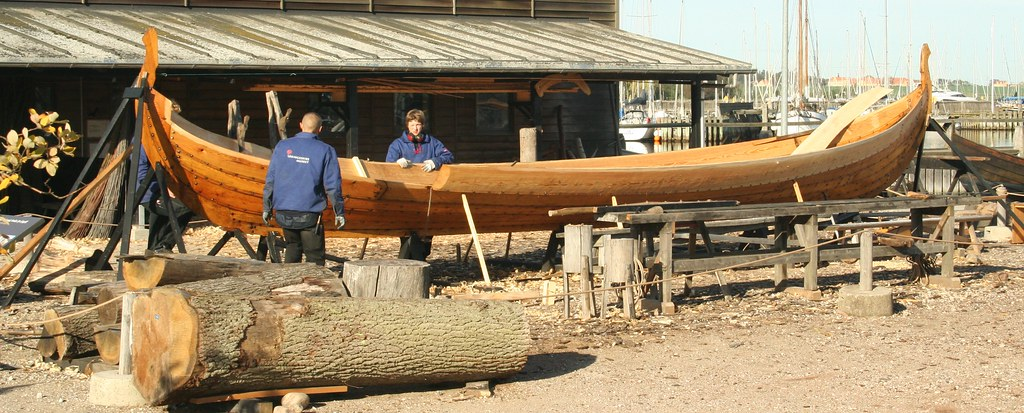 Building a viking Ship in Roskilde
