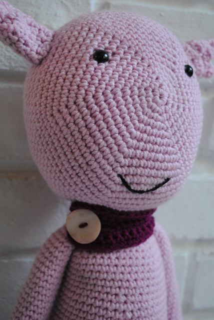 Crochet creature with scarf