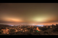 aurora over orange county (Eric 5D Mark III) Tags: california city longexposure sky usa cloud night canon landscape photography lights mood cityscape view unitedstates atmosphere wideangle aurora orangecounty irvine urbanscape lightpollution turtlerock ericlo bonitacanyon chaparralpark ef14mmf28liiusm eos5dmarkii