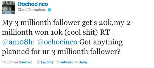 Chad Ochocinco Twitter