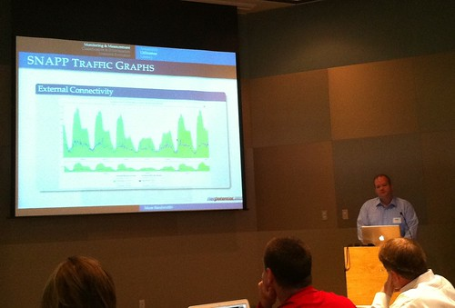 James Deaton demonstrating SNAPP Traffic Graphs