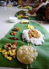 ~Onasadhya~ ([s e l v i n]) Tags: food india leaf beans dish rice kerala health meal onam sambhar malayalam bananaleaf traditionalfood papad sadhya papadam achar pulissery keraladish paysam onasadhya onamcelebrations onasadya selvin onamsadhya onamdish uperi injipully