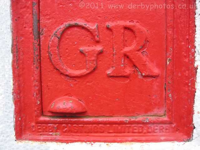 GR Wall Box on Western Road, Mickleover, Derby