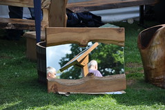 Me, the back of my head and a reflection (Rudi Pack Photography) Tags: wood green me grass nationaltrust essex backofmyhead hatfieldforest 2011 astranger woodfest