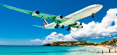 A (not so typical) day at the beach (jetrated) Tags: sunset maho sxm a340 sintmaarten