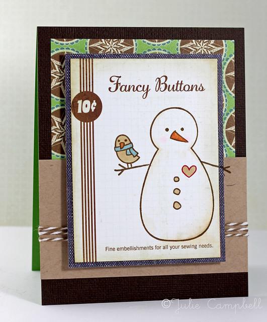 Snowman Buttons