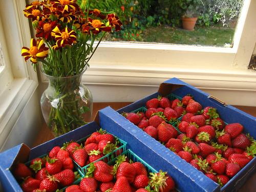 flat of berries