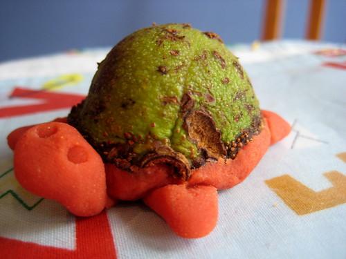 conker crafts autumn playdough