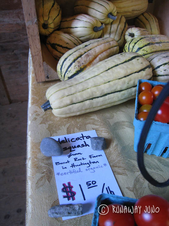 Fresh vegetables at local farm stand in Vermont
