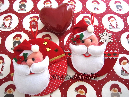 ♥♥♥ Ele não pode faltar no Natal... by sweetfelt \ ideias em feltro