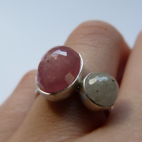 Pink and Green Sapphire Rings