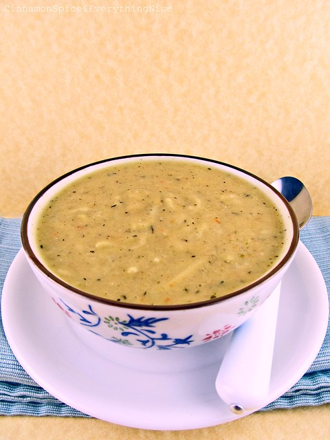 Creamy Zucchini Cheese Soup