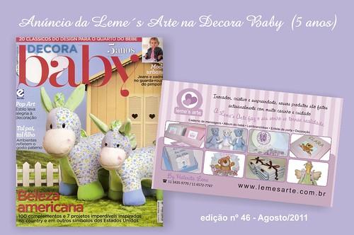 Anuncio na Decora Baby edição 46 agosto  by LEME´S ARTE / By Helenita Leme