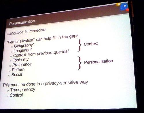 Personalization Search