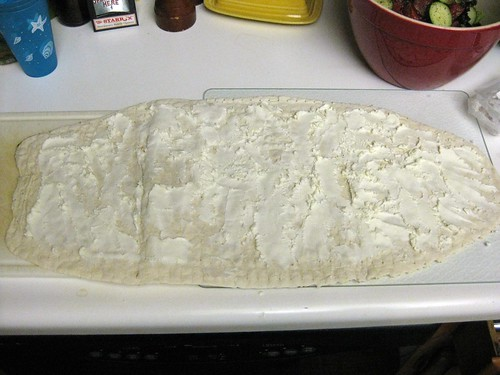 Lavash Covered in Goat Cheese
