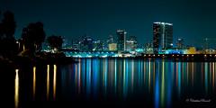 San Diego Skyline (Christian Ronnel) Tags: longexposure urban skyline night landscape cityscape nightshot sandiego thechallengefactory canoneos60d sigma1750mmf28exdcos