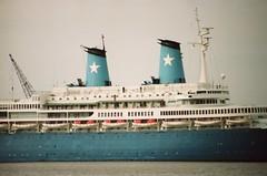Achille Lauro - 168-08 (Captain Martini) Tags: cruise cruising cruiseship tilbury liner achillelauro willemruys rotterdamschelloyd lauroline