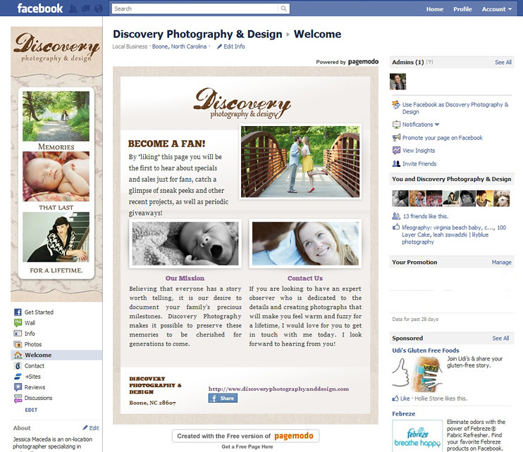 Discovery Photography & Design Facebook Page | Boone, NC