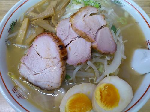ra110916山田 塩 大盛 野菜 味玉変更