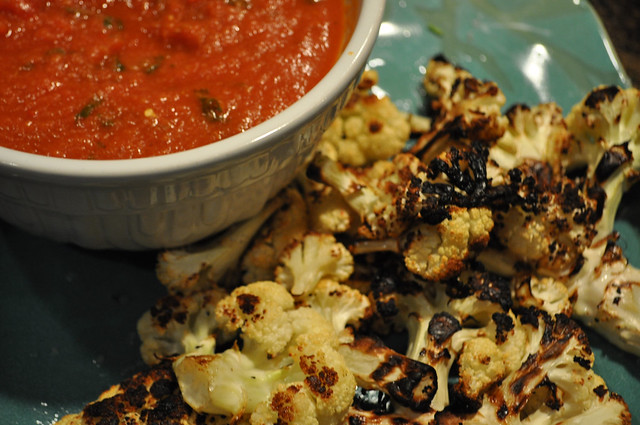 Grilled Cauliflower with Spicy Sauce