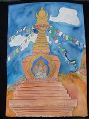 Amitabha Stupa (Neshamah Spirit Art) Tags: art love watercolor painting nicole tea teapot teapots stern raisin nicoleraisinstern