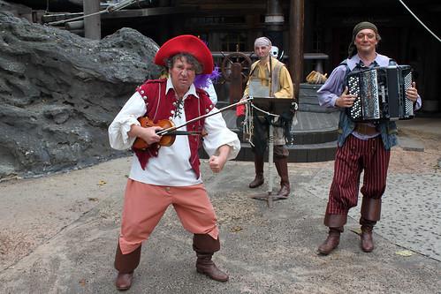 Pirate band in Adventureland