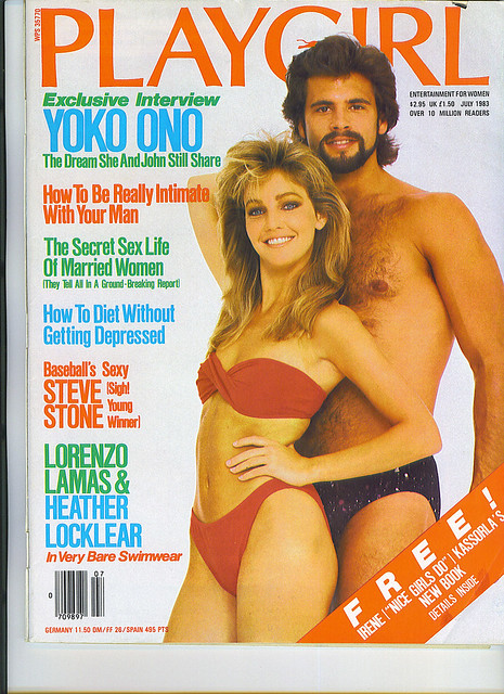 HEATHER LOCKLEAR & Lorenzo Lamas Playgirl cover - 1983