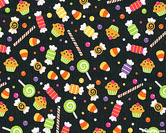 Halloween candy fabric