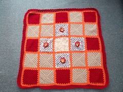 Ladies over on MSE sent these Squares to Chalky75 who very kindly made the Blanket and donated to SIBOL! Wow!