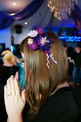 Purple kanzashi worn by me! (cuttlefishlove) Tags: model brighton hove event fashionshow hairaccessories hairclip kanzashi hbar hairaccessory fascinator hairornament theguerrillafashionshow thguerrillafashionshow