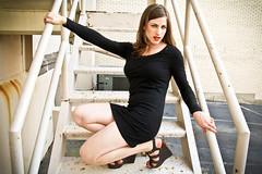 Little Black Dress (Dan | Hacker | Photography) Tags: fashion model durham redlips lipstick americanapparel hm littleblackdress blackdress downtowndurham ravishmered