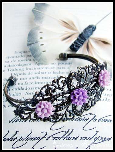 "Pulseira "" Vintage Purple "" by kideias - Artesanato"