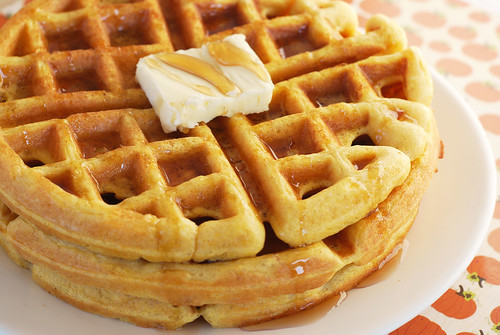 6166693976 1f24ec7f0a Pumpkin Waffles
