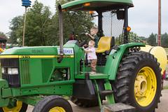 Green Tractor (Craig Dyni) Tags: boy tractor girl colin toddler finn madelyn alannah johndeere sharppark touchatruckday deltatownship dyni