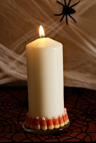 Candy Corn Candle 10