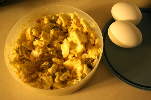 egg salad, hard boiled eggs