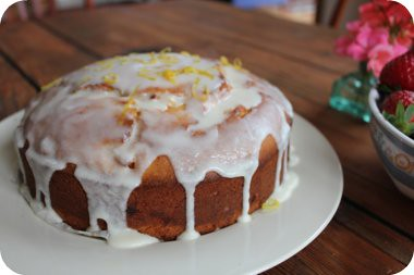 lime and mandarin cake