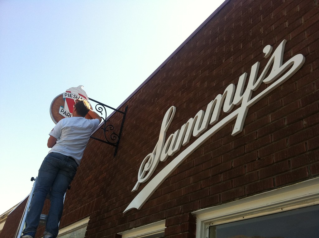 Touch ups on the sign