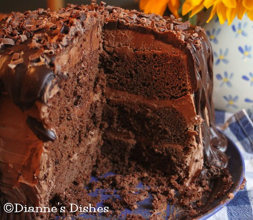 Triple Chocolate Ganache Cake: The Inside