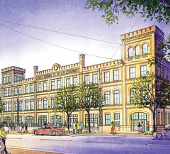 rendering of the Pabst Bottling House when finished (courtesy of The Brewery)